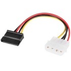 USB 2.0 para IDE / SATA Hard Drive Cable + Power Adapter - Black (EU Plug)
