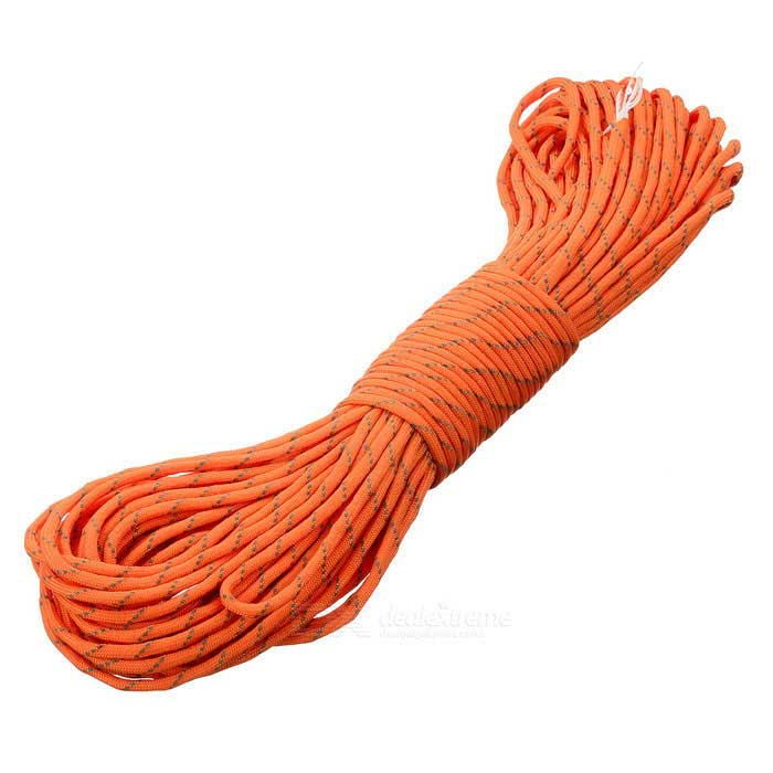 Outdoor Tactical Military Nylon Parachute Cord - Orange + Grey (30m)