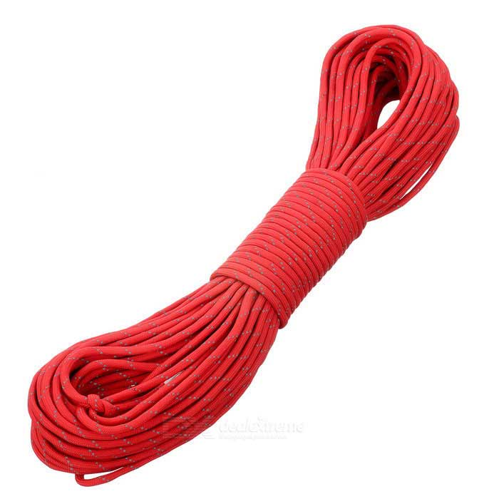 Outdoor Tactical Military Nylon Parachute Cord - Red + Grey (30m)