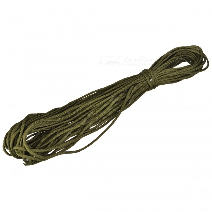 Outdoor Tactical Military Nylon Parachute Cord - Pea Green (30m)Shovels ?Camp Tool<br>Form ColorPea greenQuantity1 DX.PCM.Model.AttributeModel.UnitMaterialNylonBest UseFamily &amp; car camping,MountaineeringTypeParacordsCertificationCEOther FeaturesLoading weight: 140kg; Length: 30m; Diameter: 4mm; Suitable for various outdoor sports.Packing List1 * Parachute cord<br>