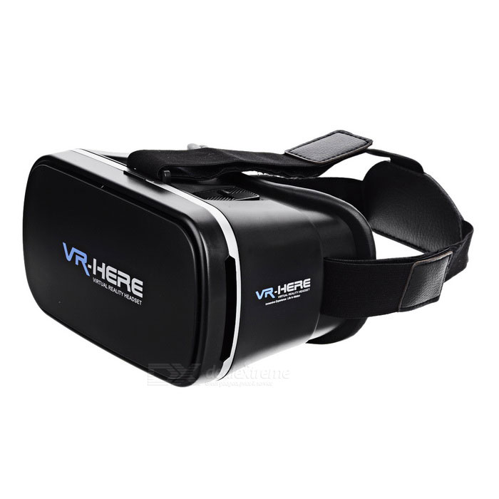 "VR HERE 3D Glasses for 3.5~6"" Phones - Black"