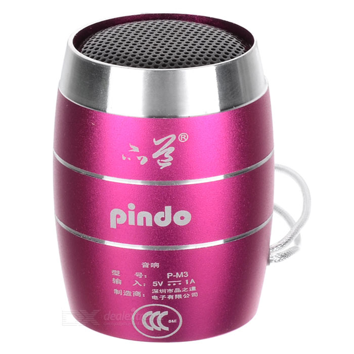 PINDO PD P-M3 Children's Portable Speaker w/ TF Card Slot - Deep Pink