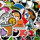 ZIQIAO Bil Dekor Funny Car Stickers - Multicolor (50pcs)