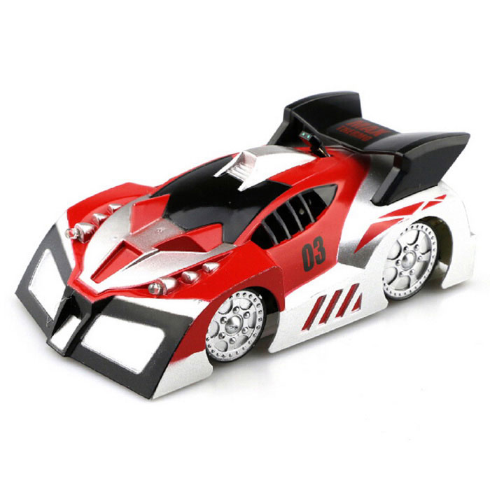 JJRC Q1 Rechargeable 4-CH RC Wall Climbing Climber Car Toy - RedR/C Cars<br>Form  ColorRedModelQ1MaterialABSQuantity1 DX.PCM.Model.AttributeModel.UnitShade Of ColorRedShape ModelOthers,Wall climbing carScaleOthers,Wall climbing carChannels Quanlity4 DX.PCM.Model.AttributeModel.UnitFunctionUp,Down,Left,Right,Forward,Backward,Stop,HoveringRemote control frequency2.4GHzRemote Control Range8-10 DX.PCM.Model.AttributeModel.UnitSuitable Age 8-11 years,12-15 years,Grown upsCameraYesCamera PixelNoLamp YesBattery Capacity200 DX.PCM.Model.AttributeModel.UnitBattery TypeAACharging Time50 DX.PCM.Model.AttributeModel.UnitWorking Time6-7 DX.PCM.Model.AttributeModel.UnitRemote Controller Battery TypeAARemote Controller Battery Number6 (Not Included)CertificationCEOther FeaturesWith wall climbing mode; USB rechargeablePacking List1 * Car toy1 * Remote controller1 * USB cable (60cm)1 * English user manual<br>
