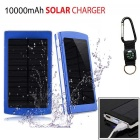 "SUNGZU ""10000mAh"" Dual USB Solar Power Bank + Compass - Blue + Orange"