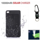 SUNGZU 8000mAh Dual USB Solar Power Bank + Compass - Black + White