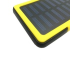 SUNGZU 10000mAh Dual USB Solar Power Battery Bank + Compass - Yellow