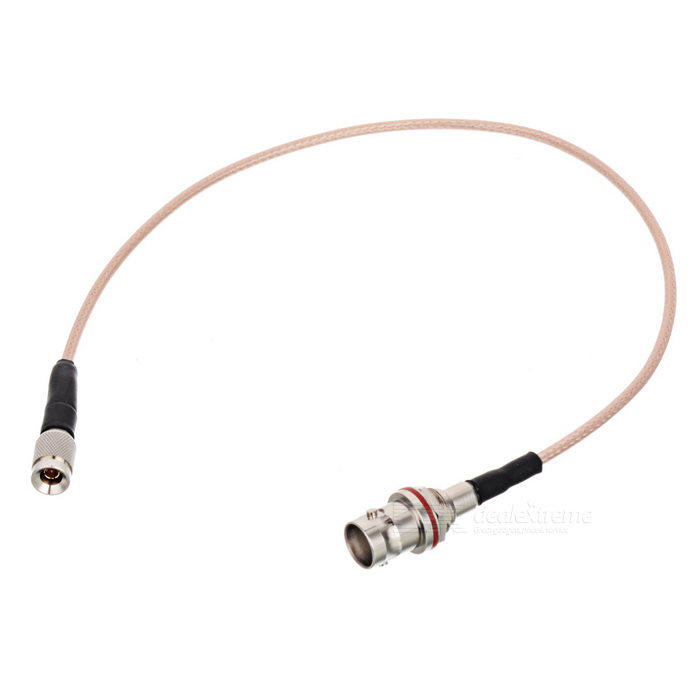 Mini BNC Male to Female RadioFrequency Coaxial Cable - Silver (34cm)