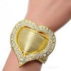 Personalized Heart Shape Bangle for Women - White + Yellow