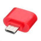MaiKou Micro USB Male to Female USB OTG Adapter - Red