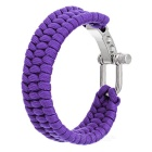 Outdoor Emergency & Survival Paracord Bracelet - Purple