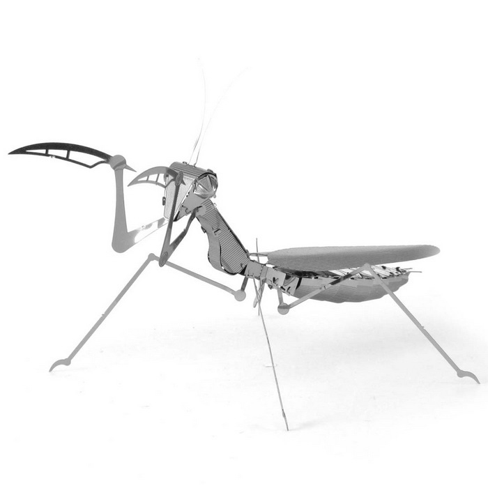 DIY quebra-cabeça 3D Model Assembled Educacional Mantis Toy - Silver