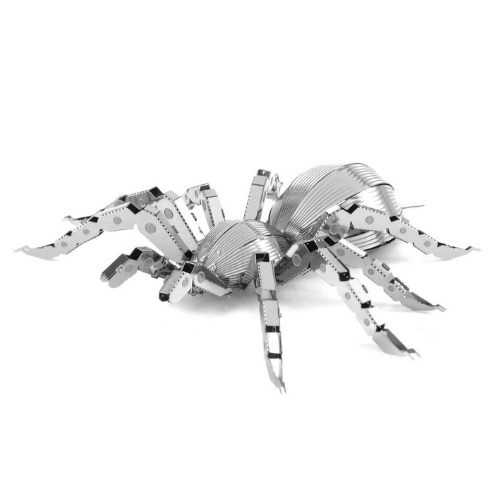 DIY 3D puslespill modell Assembled Educational Toys Spider - sølv