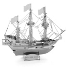 DIY 3D Puzzle Assembled Model Pirate Ship Puzzle Toy - Silver