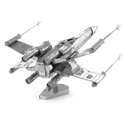 DIY Puzzles X-wing Model Aircraft Assembled Educational Toy - Silver