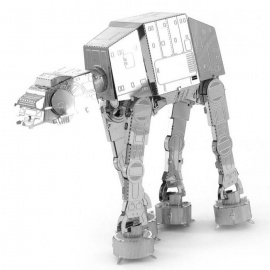 DIY 3D Puzzle AT-AT Troop Assembled Model Educational Toy - Silver