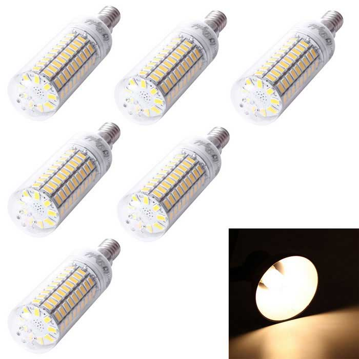 YouOKLight E14 6W LED milho bulbo lâmpada Warm White 99-SMD 5730 (6PCS)