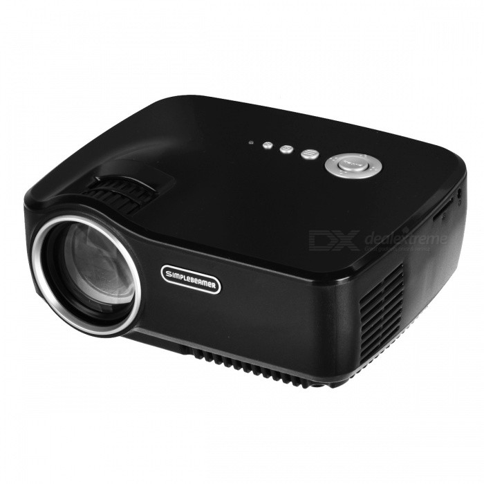 Vivibright GP70 Portable Mini 1200lm 1080P Home LED Projector - Black