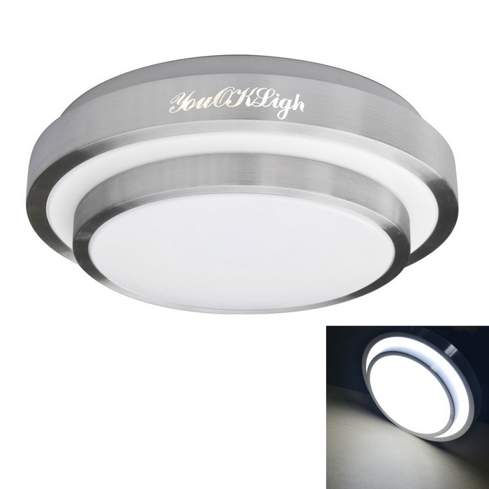 YouOKLight 18W Cool White LED Ceiling Light w/ 42cm Acrylic Lampshade