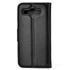 Lychee Pattern Protective PU Case for Huawei Ascend Y520 - Black