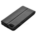 Flip-aberto lichia grão Up-Down para o iPhone 6 Plus / 6S Plus - Preto