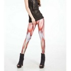 Digital Printing Muscle Patroon Sexy Leggings - Flesh kleur (XXL)
