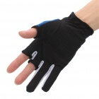 Professional Two Fingers Fishing Anti-Slip Gloves - Blue + Black (Pair)