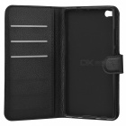Lychee Pattern Protective PU Case for Huawei P8 - Black