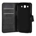 Lychee Pattern Protective PU Case for Samsung Galaxy S3 i9300 - Black
