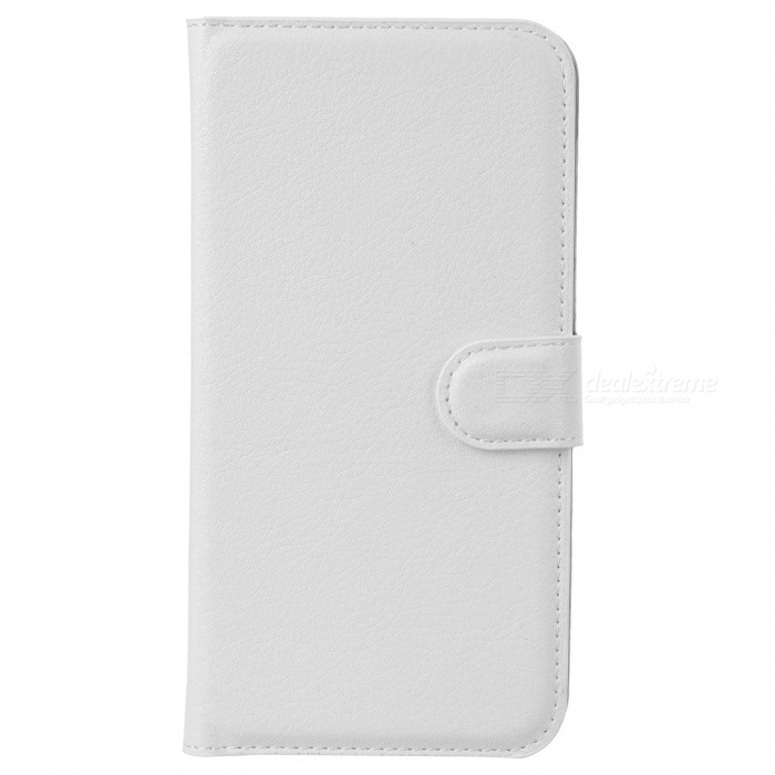 Lychee Pattern Protective PU Case for Huawei Ascend G7 - White
