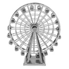 DIY 3D Puzzle Toy Model Assembled Metal Ferris Wheel - Silver