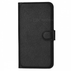 Lychee Pattern Protective PU Case for Huawei Honor 4X - Black
