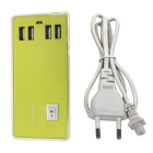 4-USB 4A 100~240V EU Plug Charger / USB Socket - Green + White