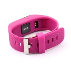 "TW64S 0.49"" Bluetooth Smart Watch / Heart Rate Monitor - Dark Pink"