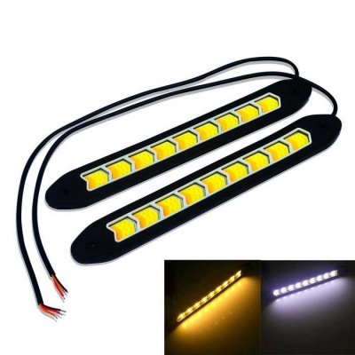 JIAWEN 4W Flexible COB LED Voiture Daytime Running Light (DC 12V/2PCS)
