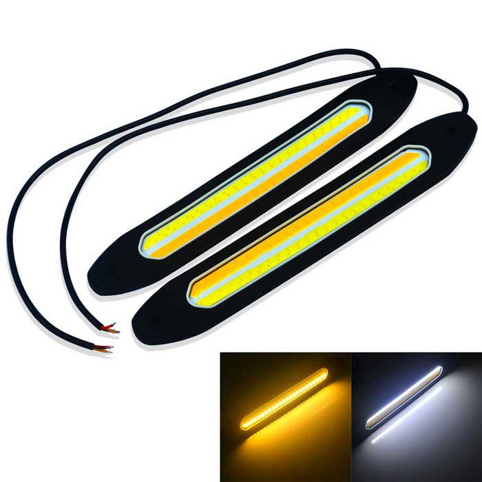 JIAWEN 4W Flexible 2-COB Voiture Daytime Running Light (DC 12V/2PCS)