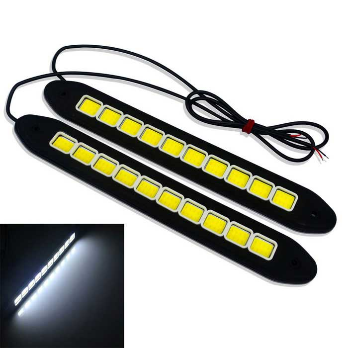 JIAWEN 4W Flexible 10-COB Voiture Daytime Running Light (DC 12V/2PCS)Decorative Lights / Strip<br>Color BINCool WhiteModelDIYQuantity1 DX.PCM.Model.AttributeModel.UnitMaterialsiliconeForm  ColorBlack + White + Multi-ColoredEmitter TypeOthers,COBChip BrandEpistarTotal Emitters10Rate VoltageDC 12VPower4WActual Lumens320-400 DX.PCM.Model.AttributeModel.UnitWater-proofIP65ApplicationDecoration light,Daytime running lightPacking List2 * Lights((55+/-2cm-cable))2 * Dual side stickers<br>