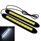 JIAWEN 4W Flexible 10-COB Voiture Daytime Running Light (DC 12V/2PCS)