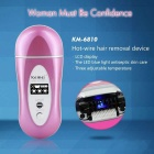 KEMEI KM-6810 Infrared Electric Rechargeable Hair Removal - Pink