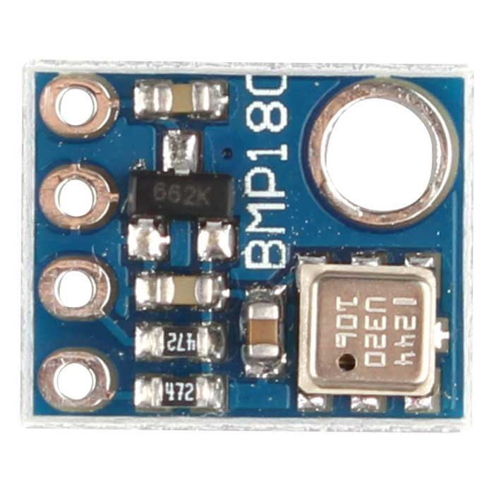 GY-68 BMP180 Replace BMP085 Digital Barometric Pressure Sensor ModuleSensors<br>Form ColorBlueModelN/AQuantity1 DX.PCM.Model.AttributeModel.UnitMaterialFR4ApplicationBarometric Pressure SensorWorking Voltage   1.62-3.6 DX.PCM.Model.AttributeModel.UnitWorking Current5u DX.PCM.Model.AttributeModel.UnitEnglish Manual / SpecYesDownload Link   http://pan.baidu.com/s/1mh5N9LAPacking List1 * GY-68 Module1 * Pin Header<br>