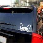 ZIQIAO Funny Dogs Car Sticker Car Window Wall Decal - Silver