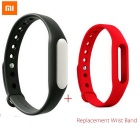 1A Waterproof Bluetooth V4.0 Sports Smart Bracelet w/ Silicone Wristband - Black + Red