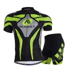 NUCKILY Outdoor Cycling Short Jersey + Short Pants Set - Green (S)