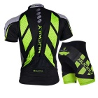 NUCKILY Outdoor Cycling Short Jersey + Short Pants Set - Green (M)