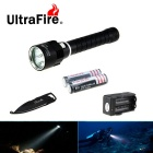 2689lm 3-Cool Mode Flashlight plongée White Light w / multi-fonctions Keychain Knife