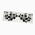 ZIQIAO Plant Flowers Pattern Car Bumper Stickers - Black (Pair)