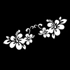 ZIQIAO Plant Flowers Pattern Car Bumper Stickers - Silver (Pair)