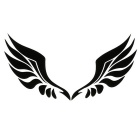 ZIQIAO Car Stickers for Rearview Mirror with Angel Wings - Black
