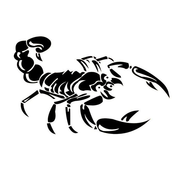 Ziqiao Cute 3d Scorpion Model Car Stickers Black Free