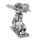 DIY 3D Puzzle Model of Educational Toys Assembled Robot - Silver